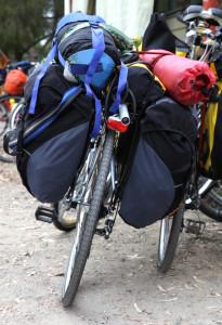 Fahrrad mit Taschen