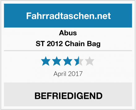 Abus ST 2012 Chain Bag Test