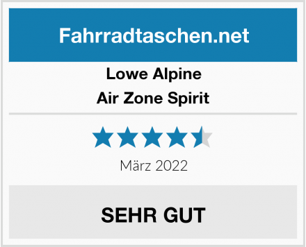 Lowe Alpine Air Zone Spirit Test