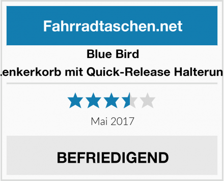 Blue Bird Lenkerkorb mit Quick-Release Halterung Test