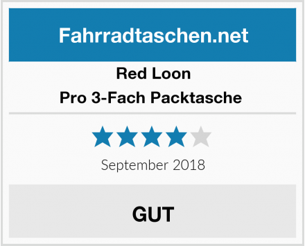 Red Loon Pro 3-Fach Packtasche  Test
