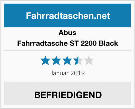Abus Fahrradtasche ST 2200 Black Test