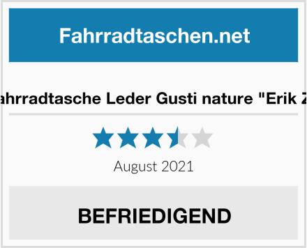 """Fahrradtasche Leder Gusti nature """"Erik Z."""" Test"""