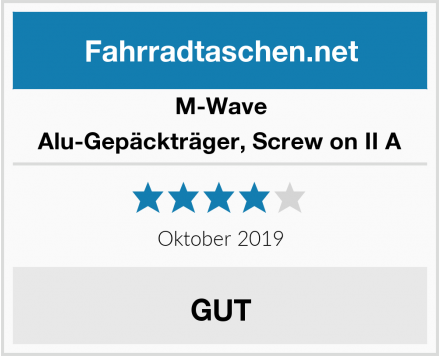 M-Wave Alu-Gepäckträger, Screw on II A Test