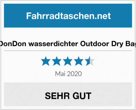 DonDon wasserdichter Outdoor Dry Bag Test
