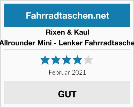Rixen & Kaul Allrounder Mini - Lenker Fahrradtasche Test